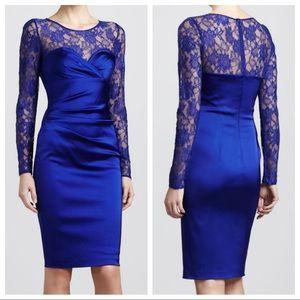 DAVID MEISTER Lace Illusion Sweetheart Dress 6